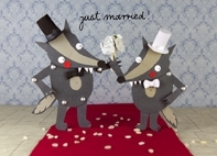 "Sandra-Monat-Postkarte  ""just married""-2"